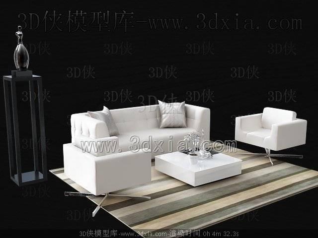 沙发组合3D模型-版本2009-a225【ID:39276】