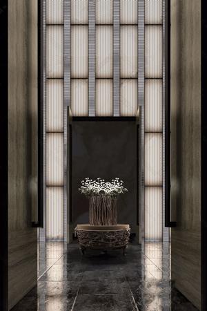 新中式门厅3D模型【ID:420803207】