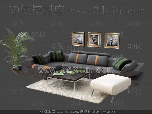 沙發組合-版本2009-a31633D模型【ID:39301】
