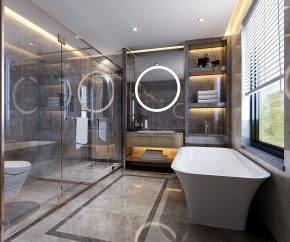 现代浴室卫生间3D模型【ID:927823575】