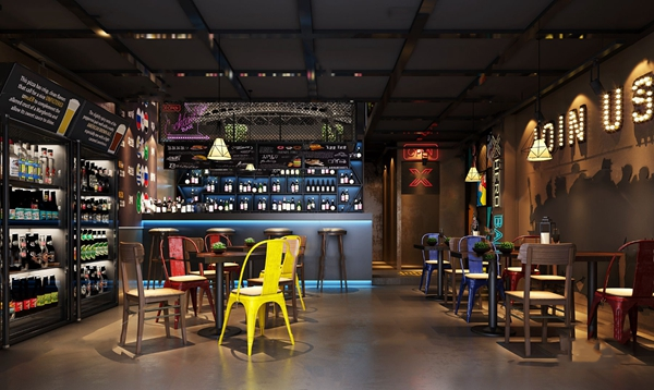 工业风酒吧3D模型【ID:847290011】