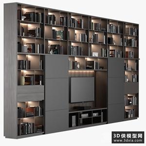 电视背景墙组合国外3D模型【ID:829330013】