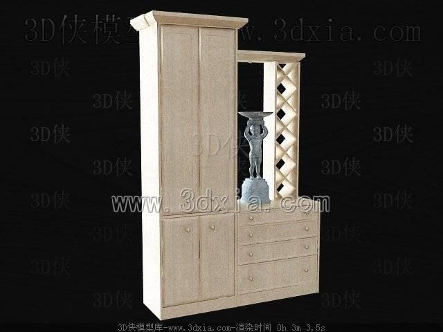 玄关鞋柜3D模型-版本2009-139【ID:39999】