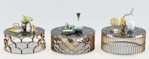 現代金屬茶幾花瓶擺件組合3D模型【ID:927827614】