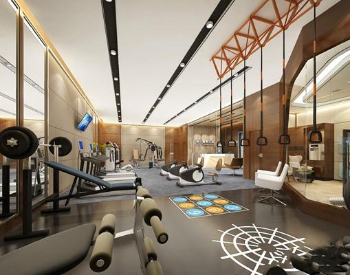 現代健身房3D模型【ID:927985666】