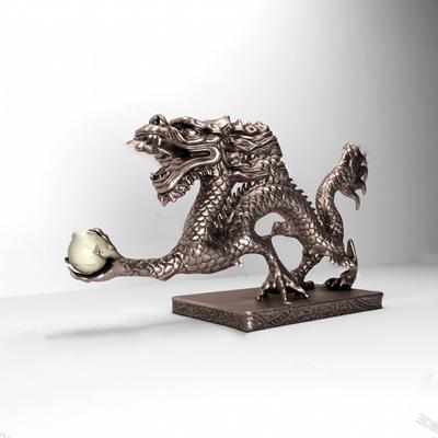 中式雕塑3D模型【ID:320609827】