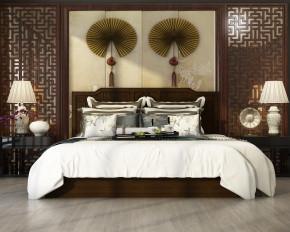 新中式双人床边几摆件组合3D模型【ID:727809041】