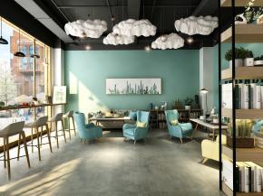 北欧咖啡厅3D模型【ID:927826535】