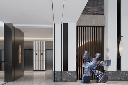 HBA设计现代酒店过道3D模型【ID:732388460】