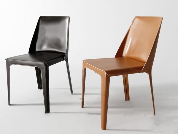 現代皮革單椅餐椅3D模型【ID:746659056】