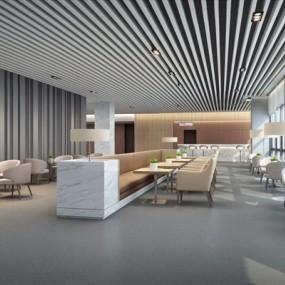 现代简约医院消费区3D模型【ID:928177692】