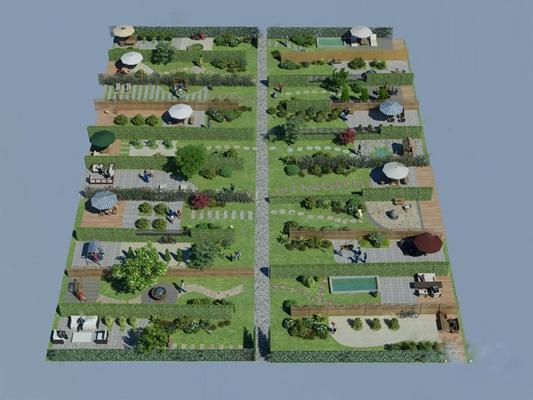 庭院3D模型【ID:320009510】