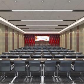 现代会议室3D模型【ID:728117665】