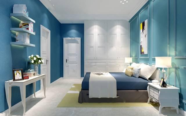 欧式卧室3D模型【ID:419625349】