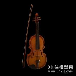 小提琴国外3D模型【ID:229847004】