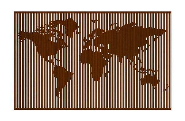 世界地图墙饰SU模型【ID:947859515】