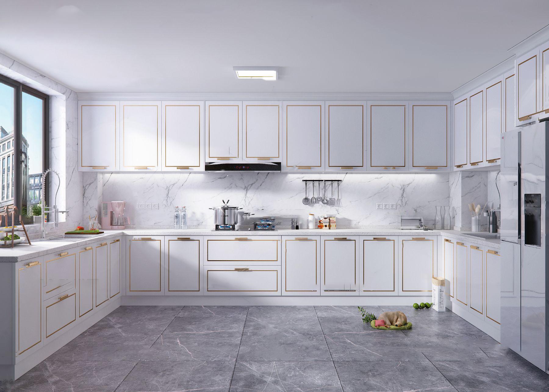 現代廚房3D模型【ID:543348350】