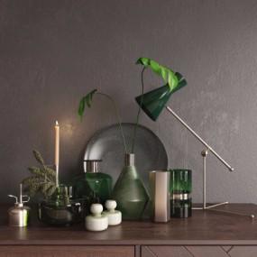 现代花瓶摆件3D模型【ID:928564134】