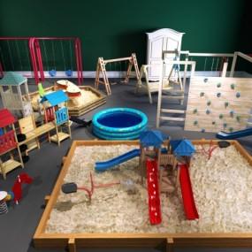 现代儿童游乐设施小品3D模型【ID:927838517】