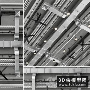 空调管道国外3D模型【ID:929329614】