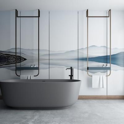 現代浴缸毛巾架3D模型【ID:227782011】