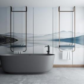 现代浴缸毛巾架3D模型【ID:227782011】