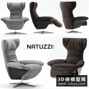 现代电脑椅国外3D模型【ID:729460862】