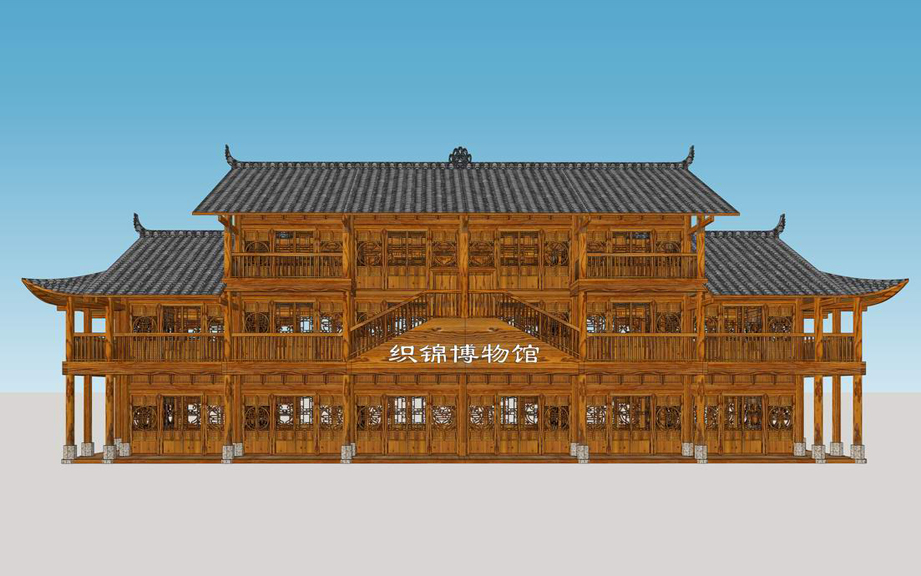 土家族織錦博物館SU模型【ID:636368326】