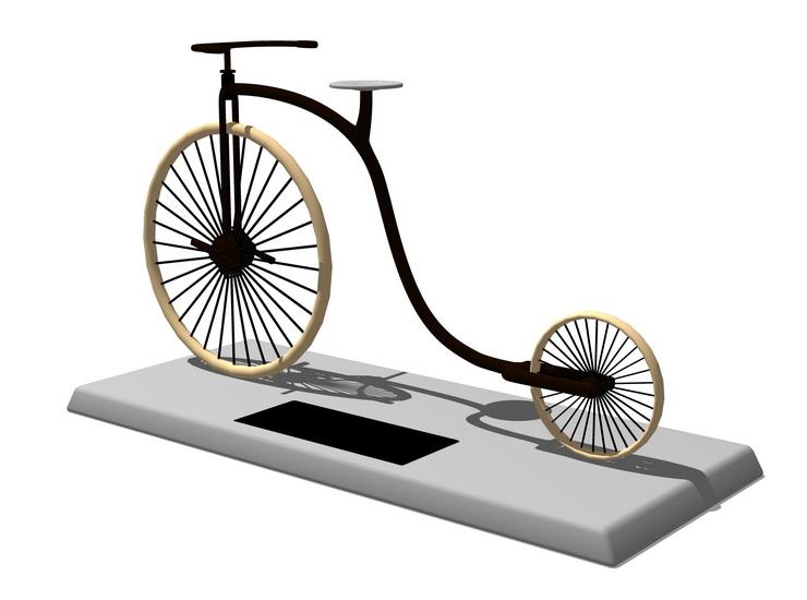 自行车摆件SU模型【ID:936368635】