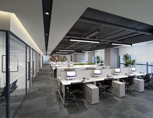現代辦公室3D模型【ID:728067656】
