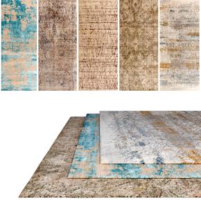 现代地毯组合3D模型【ID:428442074】