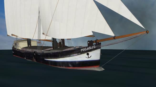 "帆船""飞马""SU模型【ID:839648422】"