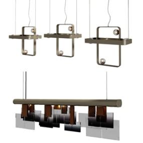 现代吊灯3D模型【ID:736239821】