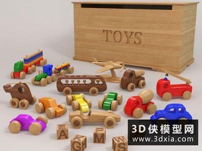 现代儿童玩具国外3D模型【ID:129574946】