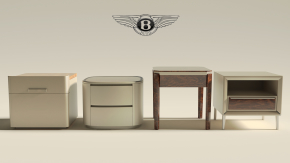 宾利现代床头柜组合3D模型【ID:927816648】