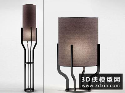 现代落地灯国外3D模型【ID:929582082】