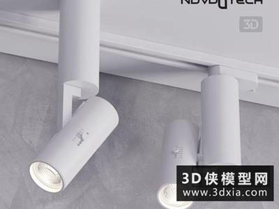 軌道射燈國外3D模型【ID:929357110】