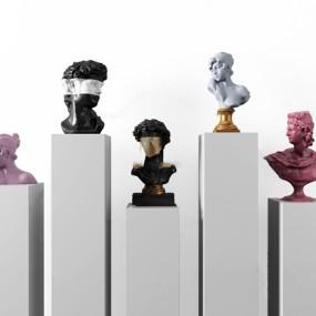 現代人物雕塑3d模型【ID:347087135】