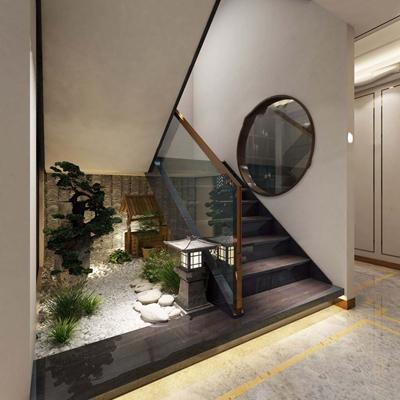 室內庭院設計3D模型【ID:227888145】