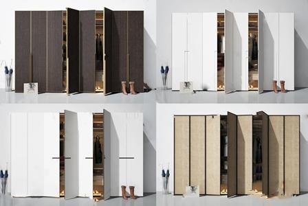 现代衣柜组合3D模型【ID:132399471】