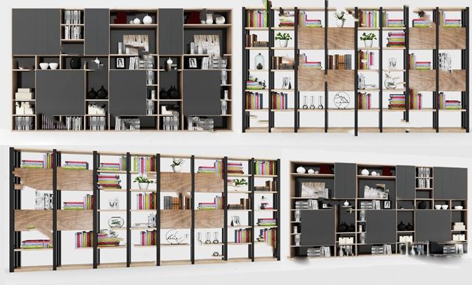 书柜3D模型【ID:920012583】