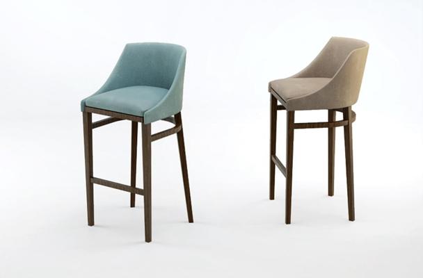 簡約時尚吧椅3D模型【ID:327899138】