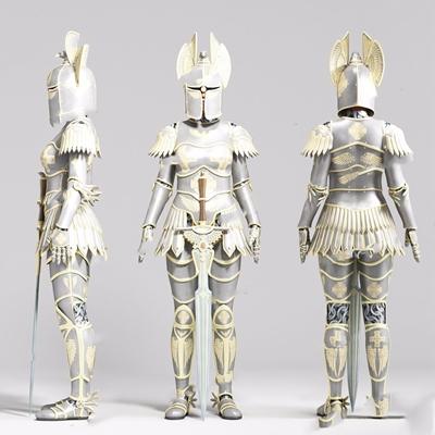 人物击剑手盔甲3D模型【ID:628199898】