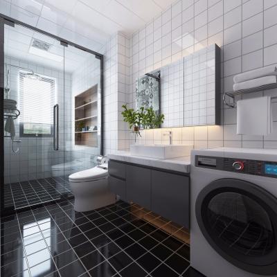 现代浴室卫生间3D模型【ID:127764699】