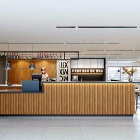 工业风休闲咖啡厅3D模型【ID:528283593】