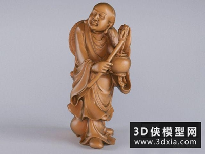 过江罗汉国外3D模型【ID:929550719】