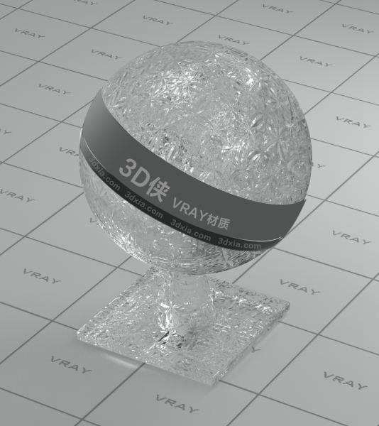 装饰玻璃Vray材质【ID:736434534】