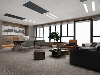 現代總經理辦公室3D模型【ID:950469047】