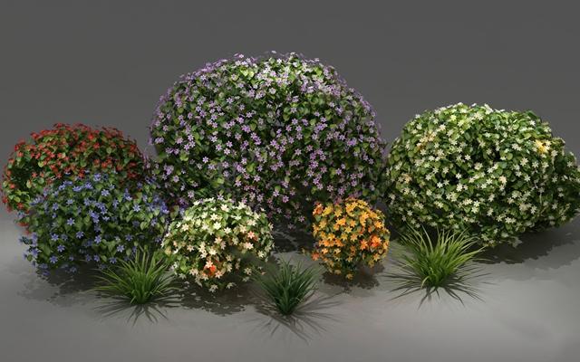 现代灌木3D模型【ID:320600599】