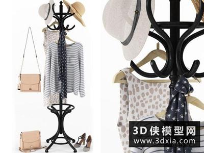 衣服模型組合國外3D模型【ID:929387615】